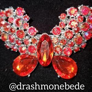 🛍NWT: Vintage Brooch (Red Butterfly)